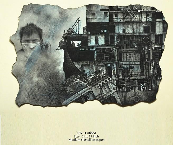 Vipul Prajapati, Untitled 2014, mixed media on paper
