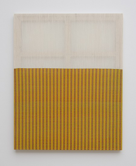 Gabriel Pionkowski, Untitled 2011, deconstructed, hand-painted and woven canvas, pine, acrylic, wood joiners