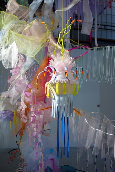 Li Ma, Thousand Dreams Pavillion 2013, fabric scrap, wood and wire