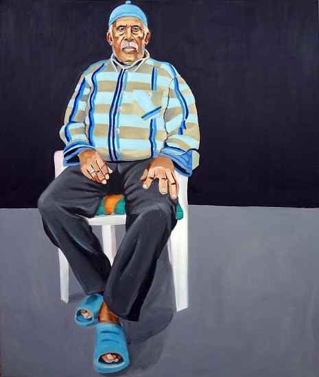 Michael Dixon, Untitled (Afro-Turk Portrait Series) 2011, oil on canvas
