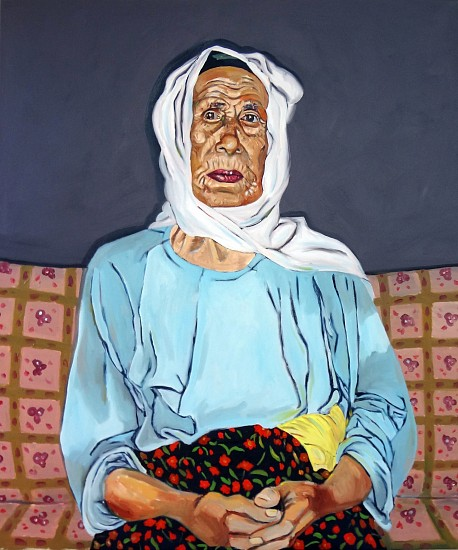 Michael Dixon, Untitled (Afro-Turk Portrait Series) 2012, oil on canvas