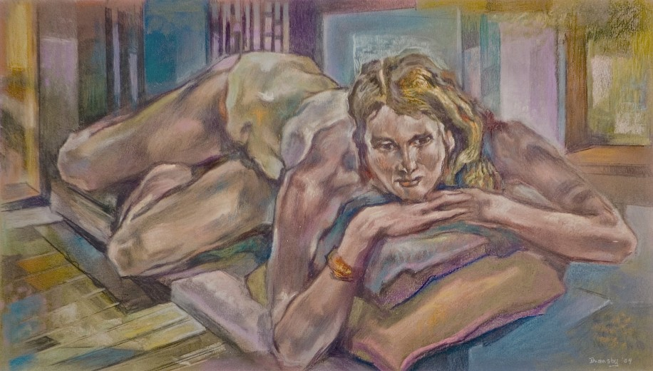 Eric Bransby, Reclining Figure 2004, pastel on paper
