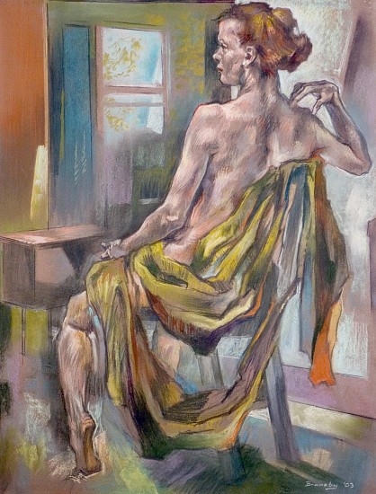 Eric Bransby, The Golden Drape 2003, pastel on paper