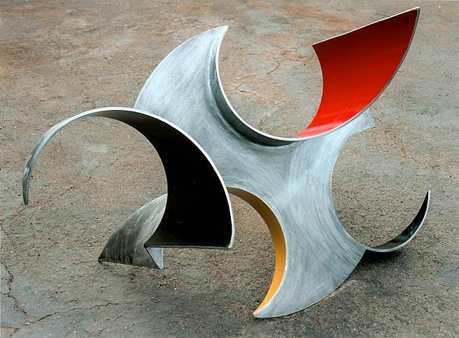 Kenneth Capps, Convert 2014, Zinc and paint on steel