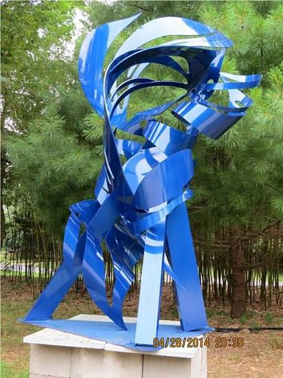 Phyllis Hammond, Big Blue 2015, Powder-coated aluminum