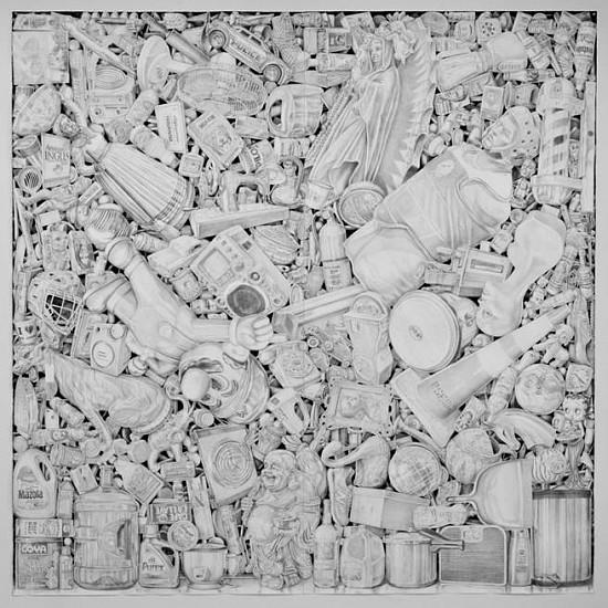 Jairo Alfonso, 494 (Bergenline Avenue) 2015, watercolor pencil on paper