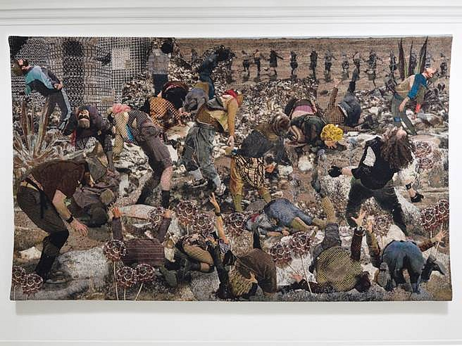 Aziz + Cucher, Some People 2014, cotton jacquard tapestry