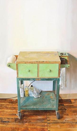Brett Eberhardt, Painting Cart 2015, oil on panel