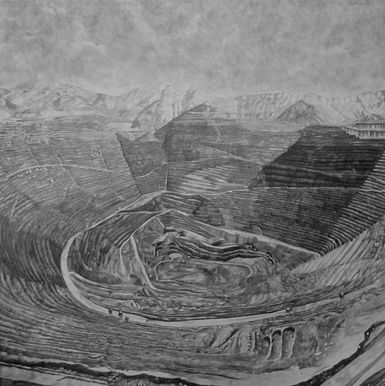 Nina Elder, Kennecott Corporation: Bingham Canyon Mine, Utah 2015, graphite and rock powder on paper