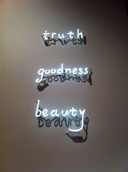 Terence Koh, truth, goodness, beauty 2015, neon