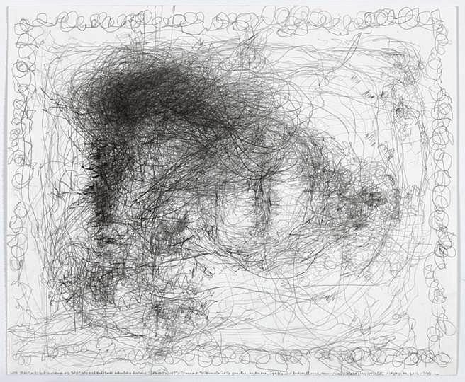 Morgan O'Hara, Triennale 2016, graphite on Bristol paper