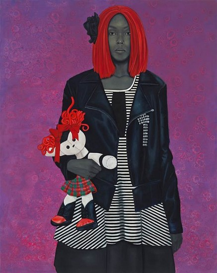 Amy Sherald, Freeing herself was one thing, claiming ownership of that freedom was another (red hair) 2015, oil on canvas