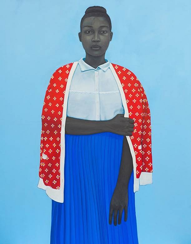 Amy Sherald, Fact was she knew more about them than she knew about herself, having never had the map to discover what she was like 2014, oil on canvas