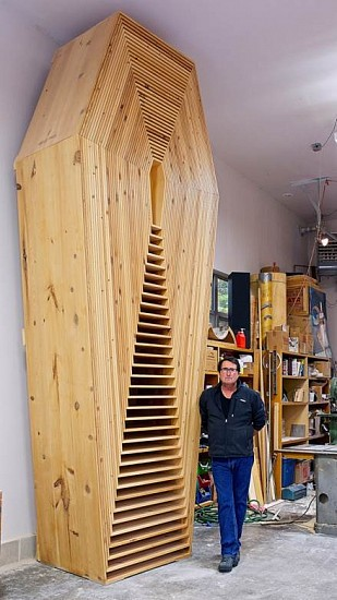 Steven Woodward, Untitled 2008, pine (front view, Ellison Bay Studio, Wisconsin)