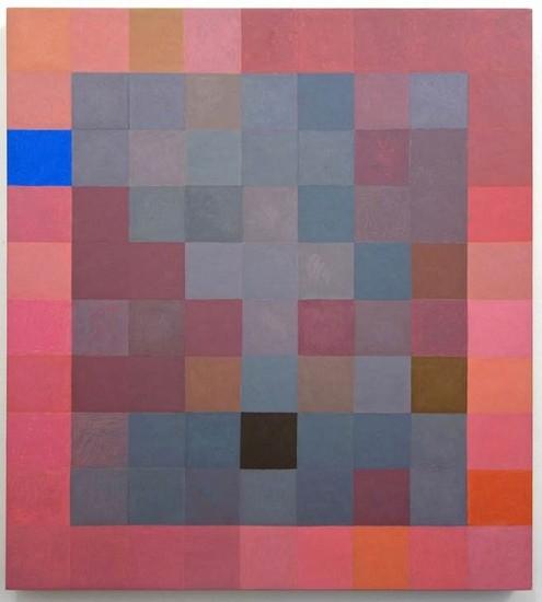 Jeremy Gilbert-Rolfe, Foggy Grid 2015, oil on linen