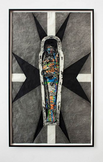 Adam Helms, Untitled (900 Years) 2011, charcoal and pastel on rice paper
