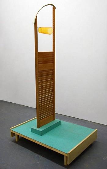 Ian Pedigo, Awake Under an Overpass 2015, Wood, plastic, textile, metal, acrylic paint