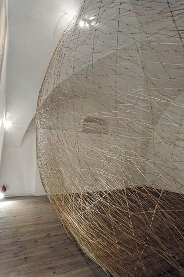 "Miroslaw Maszlanka, I dusza i rozum i cialo (""Spirit and mind and body"") 2008, wax and grass"