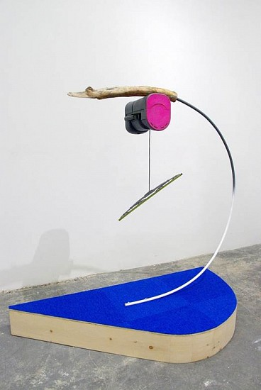 Ian Pedigo, Soon as with the Other 2015, Wood, plastic, acrylic paint, metal, textile, rubber