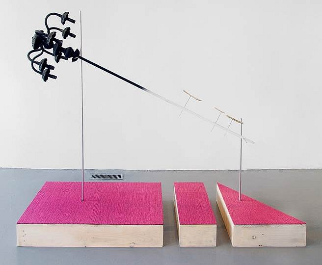 Ian Pedigo, Light That Never Goes Out 2015, Wood, metal, plastic, acrylic paint, textile, bone