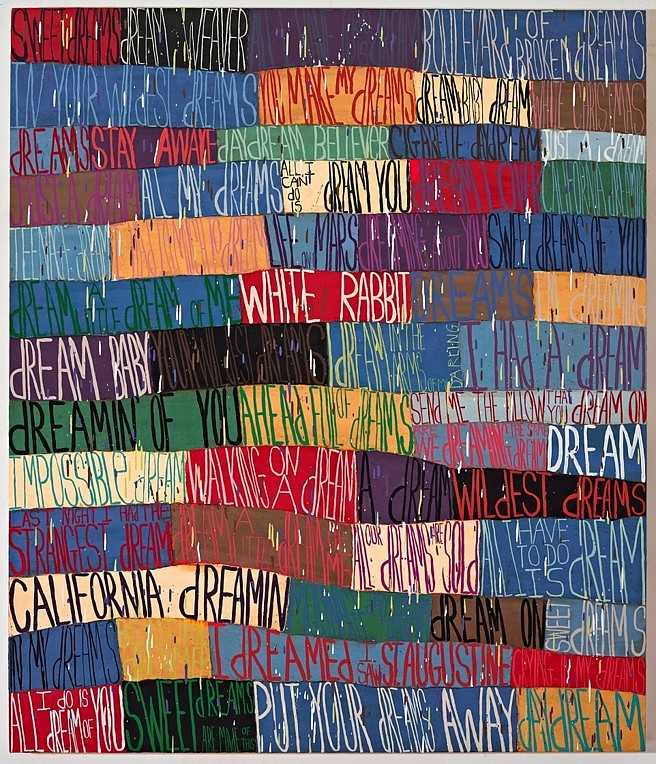 Squeak Carnwath   Dreams , 2016   oil and alkyd on canvas over panel, 70 x 60 in.